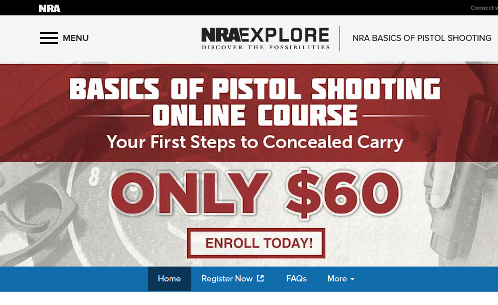 NRA Explore NRA Basics of Pistol Shooting 2